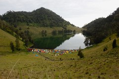 Bromo-Tengger-Semeru National Park, ranu kumbolo camping ground (elly.sugab) Tags: lake cratier ranukumbolo bromo semeru camping camp outdoor nature valley tent