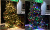 Memories of Christmas 2016 (soniaadammurray - Off) Tags: iphone diptych christmas2016 whitelights colouredlights bokeh christmastree