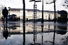Place Saint-Lambert (Liège 2017) (LiveFromLiege) Tags: liège liege luik lüttich liegi lieja wallonie belgique belgium reflet reflection puddle puddles puddlephotography puddlegram architecture city