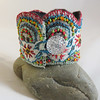 Embroidered Lace Cuff - Kingfisher colours (Lynwoodcrafts) Tags: cuff embroideredcuff turquoise textilecuff embroideredjewellery textilejewellery lacecuff embroideredlacecuff