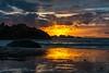 Fire Sky (KnightedAirs) Tags: nikon d5200 nikkor 35mm afs dx bandon beach oregon coast sky sunset dusk landscape coastal sun cloud clouds sand silhouette orange red