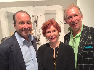 Collectors Richard Miltner, Cricket Taplin and Mark Steinhardt at the Snitzer Gallery opening