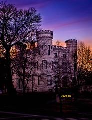Pray to the Castle (Explored) (Geoff Eccles) Tags: castle illinois beverlyridge goldenhour evening church beverly