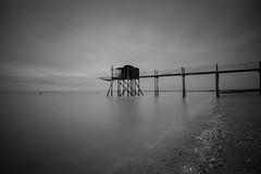 A coté de La Rochelle (David-Charles Arrivé1) Tags: 5dmarkii 1740l nb nd400 poselongue paysage mer