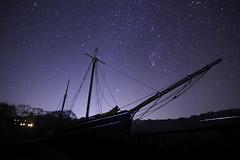 Starship Garlandstone, Morwellham Quay (Richard D Porter) Tags: canon uk tokina 1116mm f28 devon morwellham quay stars astrolandscape astro nightsky orion ship boat longexposure tripod dx cropsensor