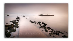 Hazy Light at Islandhill (RonnieLMills) Tags: hazy winter light islandhill early morning sunrise dawn glow causeway rocks flat calm high tide comber newtownards county down nikon d90 tamron 1024 wide angle landscape rough island strangford lough greatphotographers