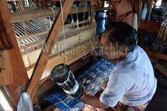 30098737 (wolfgangkaehler) Tags: asia asian southeastasia myanmar burma burmese inlelake villagelife lake innpawkhonevillage woman workshop people worker working weaver weaving weavingloom weavinglooms weavingcloth loom looms
