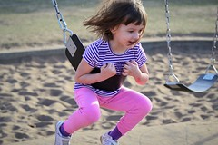 Weeee! (Vegan Butterfly) Tags: playing cute girl fun outside outdoors kid vegan child play exercise adorable swing swinging homeschool homeschooling