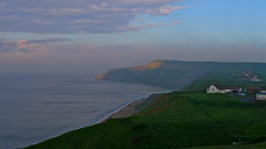 Cayton Bay, (Macca6691) Tags: sea england mist seascape nature weather fog landscape coast landscapes seaside outdoor northsea coastline scarborough northyorkshire flamingjune weatherfront seafret caytonbay