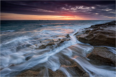 dancing water (Maciek Gornisiewicz) Tags: ocean sunset seascape beach clouds canon landscape photography evening coast rocks waves dusk indian tripod australia burns filter shore perth western maciek 2015 dancingwater 1635mm darkelf gornisiewicz 5diii