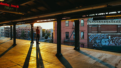Thigh gap? (Linh H. Nguyen) Tags: life street city light sunset shadow urban newyork silhouette brooklyn golden glow cinematic goldenhour vscocam s6edge