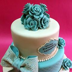Tiffany Themed Stacked Cake (patchias) Tags: tiffany cakeshop cakehouse klangvalley partycake noveltycake customcake kidscake 3dcakes designedcake childrencakes bestcakes fondantbirthdaycake 3dbirthdaycake figurinecake kslcitymall kepongbakery sripetalingcakestore malaysiabaker