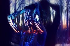 Winterlight (SkylerBrown) Tags: blue winter shadow woman girl pretty blueeyes projection tesshaines