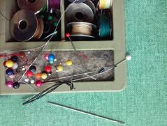At the Tailor's (Kookoo sabzi) Tags: thread sharon pins needles bobbins atthetailors july2015