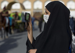 Veiled Woman Taking Pictures With Her Mobile Phone, Isfahan Province, Isfahan, Iran (Eric Lafforgue) Tags: camera city portrait people woman mobile horizontal portraits square outdoors person photography one mobiles holding women asia day technology veiled hand phone veil adult mask iran telephone muslim cell cellular persia unescoworldheritagesite health pollution mobilephone globalization middle orient youngadult esfahan adultsonly phones oneperson isfahan telephones telephony persianculture chador phoning ispahan traveldestinations famousplace onewomanonly   colourimage 1people  iro isfahanprovince  sepahan spadana  hispahan mesdjidishah iran150988