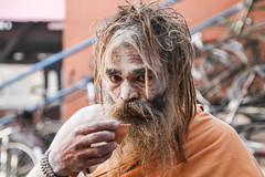 Sadhu with his Morning Tea (saish746) Tags: city morning people woman sun india man men heritage history girl river naked nude temple death boat women worship breast place riverside outdoor indian avatar lord holy experience sacred varanasi hanuman bathing shiva sublime hindu hinduism dip kashi oldest ganga asi ganges pradesh cremation ghats banaras aarti pilgrims benaras ghat kedar uttar kaal bihar vishwanath dasaswamedh manikarnika bhairav harishchandra dasaswameth