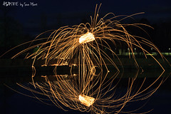 Wire wool spinning (Aspire by Sue Plant) Tags: canberra lbg lakeburleygriffin steelwoolspinning wirewoolspinning