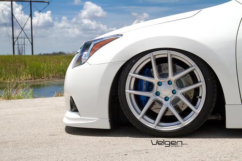 Bagged Nissan Altima Coupe On Velgen Wheels Vmb5 Matte