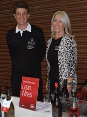 "Lynne Levin & Ben at Virgin Wines Tasting • <a style=""font-size:0.8em;"" href=""http://www.flickr.com/photos/133405556@N08/20078995285/"" target=""_blank"">View on Flickr</a>"