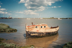 A boat that's seen better days. Orford (dark_dave25) Tags: film superia olympus xa