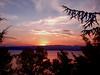 Zajdisonce vo Ohrid (nazmije.d) Tags: red summer sky orange mountain tree forest landscape leto nebo 2015 ezero sonce pejsaz ohridlake drva ohridskoezero