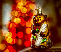 one more for the year (johnsinclair8888) Tags: christmas beaver bokeh nikon tamron ornament affinityphoto overlay texture tree art light macro hdr