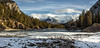 Bow Falls Panorama (Canon Queen Rocks (1,230,000 + views)) Tags: river falls bowfalls banff banffnationalpark nationalpark nature sky scenery scenic mountains clouds trees landscape panorama alberta canada