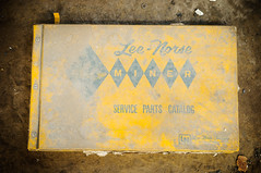 lee-norse miner service parts catalog (Sam Scholes) Tags: urbex utah leenorsecompany coal industrial industrialdecay urbanexploration coalmine minerservicepartscatalog mining leenorse mine catalog found kingcoal ruraldecay abandoned yellow urbandecay hiawatha