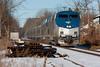 Train #57, Southbound (FlyinPhotog) Tags: train amtrak railroad p42dc southdeerfield massachusetts