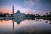 floating mosque (Hafiz.Soyuz.Photography™) Tags: mosque float terengganu malaysia nikon east coast tower dome architecture lake lagoon kualaibai sunrise landscapes landmark buildings reflection sky clouds