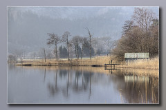Boathouse in the Reeds Loch Ard (Bill McKenzie / bmphoto) Tags: lochard stirlingshire scotland boathouse reflection reeds best trossachs