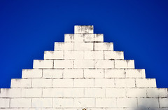 White blocks blue sky (donjuanmon) Tags: sliders slidersunday hss contrast sky white blue donjuanmon nikon balance pyramid blocks triangle minimalist