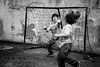 ° (bass_nroll) Tags: canon 5d mkii mk2 andrea noè kids bambini soccer calcio portiere attaccante copoditesta parata goal bw bn