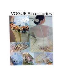 Vogue 7009 Wedding Accessories (FindCraftyPatterns) Tags: vogue7009 weddingaccessories floral rose flower fabricaccents ringpillow giftbag hairpiece corsage sewingpattern uncut