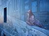 La femme qui aimait le bleu (Thierry.Vaye) Tags: graff murpeint angoulême bleu blue street rue