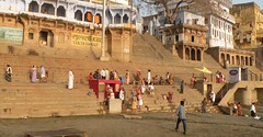 Tulsi ghat (bokage) Tags: india varanasi uttarpradesh benares bokage ghat temple pilgrim hindu hinduism religion tulsi