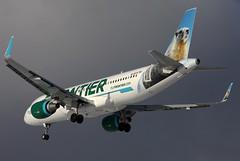 N236FR FRONTIER A320-214SL at KCLE (GeorgeM757) Tags: n236fr frontier a320214sl aircraft alltypesoftransport aviation airbus kcle georgem757 landing jetliner