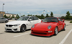 Porsche 911 Carrera RS 3.8, BMW M3 (F80) (SPV Automotive) Tags: porsche 911 carrera rs 38 993 coupe exotic sports car supercar red bmw m3 f80 sedan white
