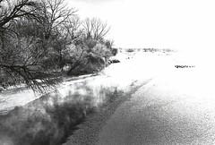 455 - Platte River - Unibrom Lith Print (Brad Renken) Tags: blackandwhite slavich unibrom fiber arista lith nebraska nebr neb ne winter ice steam pentax smc 14 acros d76 11 35mm film platteriver darr darrbridge