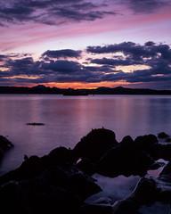 The inky blackness of Knoydart rocks (Kevin J Allan) Tags: doune filmfujivelvia50 knoydart labdeveloped scotlan cameracanont90