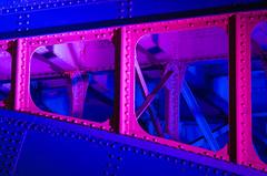 Southwark Bridge detail (Spannarama) Tags: nightphotography night dark evening bridge lights longexposure thames london uk southwarkbridge colouredlights steel girders rivets detail