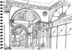 Bordeaux, la Galerie Bordelaise (Croctoo) Tags: croctoo croquis croctoofr bordeaux crayon galerie aquitaine