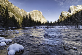 Merced River and El Capitan in the Winter