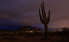 sOLACE sOUGHT iN a sONORAN sTORM 47 (wNG555) Tags: 2017 apachejunction apachetrail superstitionmountain superstitionwilderness desert cactus nightscape storm clouds rokinon14mmf28 arizona phoenix