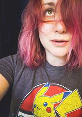 032 (amyjutras) Tags: self selfportrait 365 expressive messyhair pinkhair pikachu
