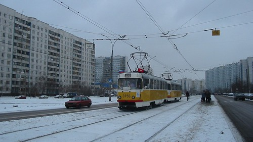 Moscow tram Tatra T3SU 3756