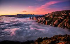 El Reino en niebla (ric.gayan) Tags: riglos sunset fog niebla atardecer