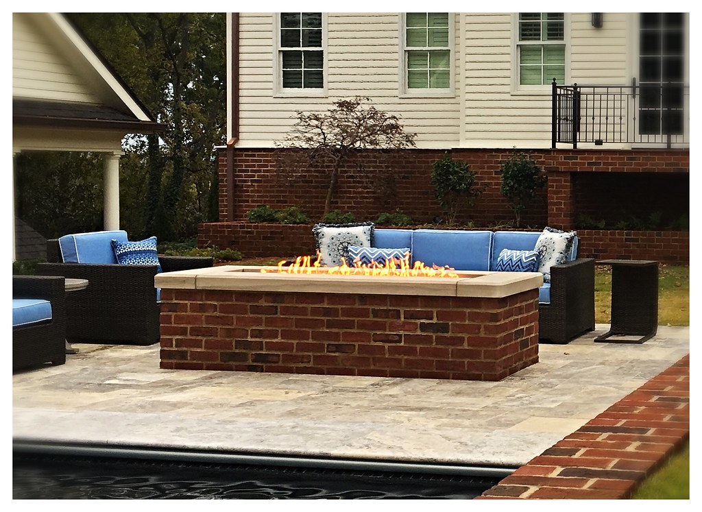Custom Linear Fire Pit. Chattanooga, Tn.
