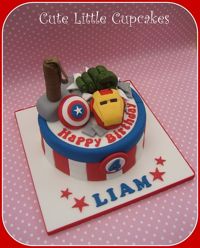 Pleasing Avengers Birthday Cake A Photo On Flickriver Personalised Birthday Cards Bromeletsinfo