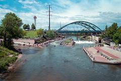 Confluence Park - Denver (Z-Imagery) Tags: water nikon colorado kayak f100 denver rapids cherrycreek confluencepark fujicolorsuperia100 southplatteriver classii